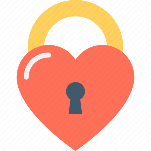 feelings, heart lock, love, privacy, romantic icon