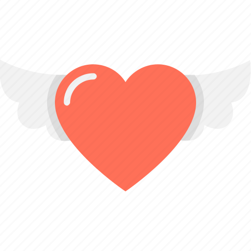heart, in love, love in air, valentine, wings icon