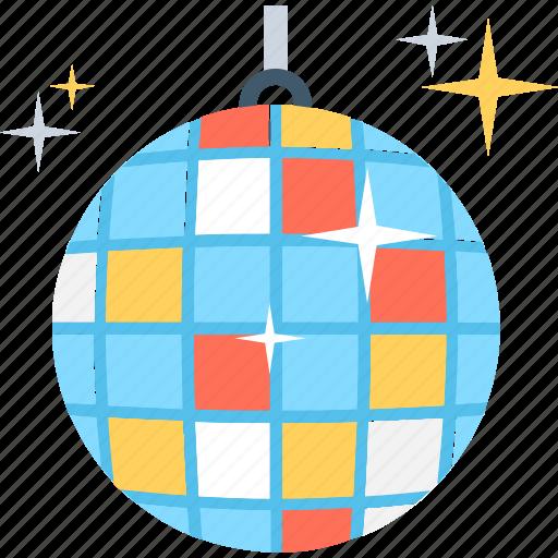 dance ball, disco ball, disco lights, lighting, party icon