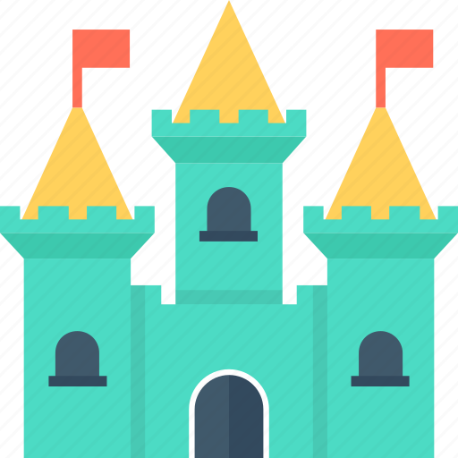 building, castle, fort, medieval, monument icon