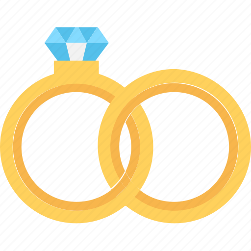 couple rings, fashion, marriage, rings, wedding rings icon