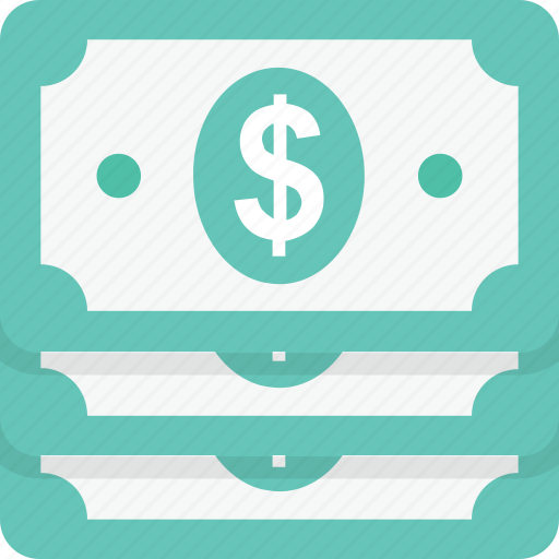 banknotes, cash, currency, dollar, money icon