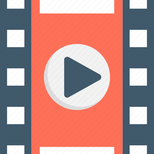 media, movie, movie player, multimedia, video player icon