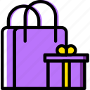 birthday, celebration, gifts, party icon