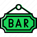bar, birthday, celebration, party, sign icon