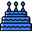 birthday, cake, celebration, party icon