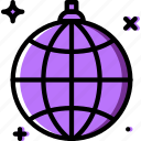 birthday, celebration, disco, globe, party icon