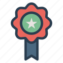 award, badge, medal, quality icon