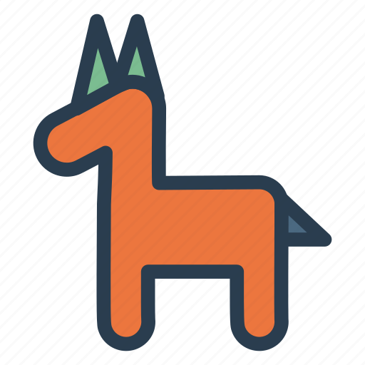 baby, play, rockinghorse, toy icon