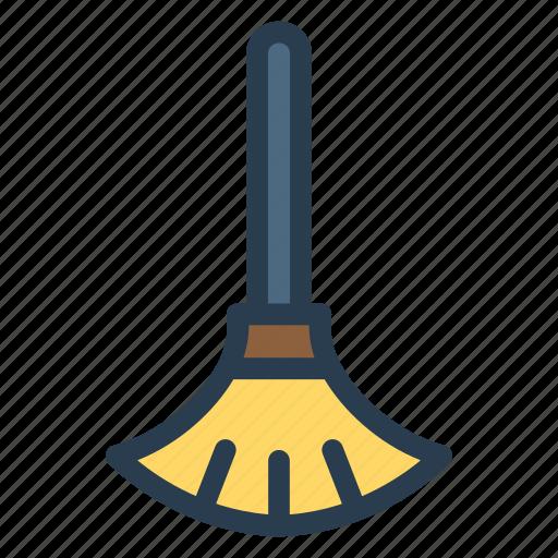 broom, brush, duster, mop icon