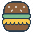 burger, eat, food, snack icon