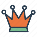 awards, crown, king, victory icon
