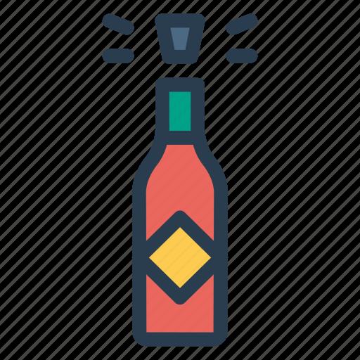 bottle, celebration, champagne, wine icon