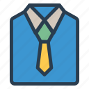 cloth, dress, shirt, tie icon