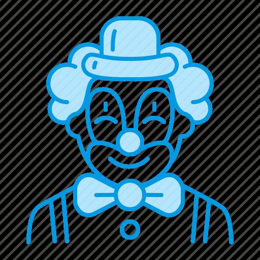 birthday, clown, kids, party icon