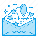 birthday, invitation, party, wedding icon