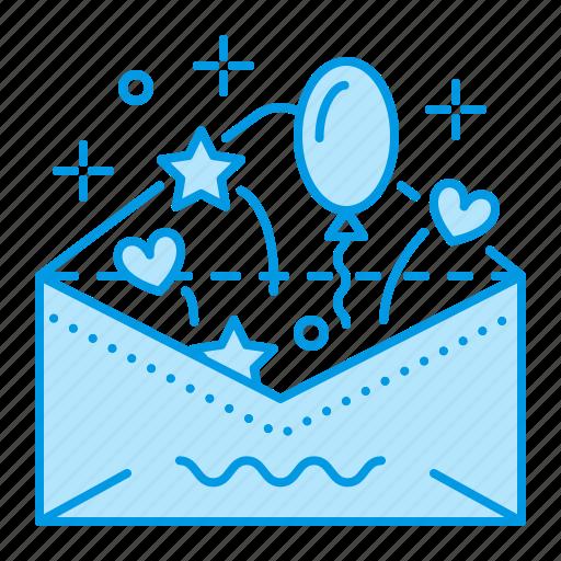 birthday, invitation, party, wedding icon