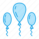 balloons, birthday, celebration, party