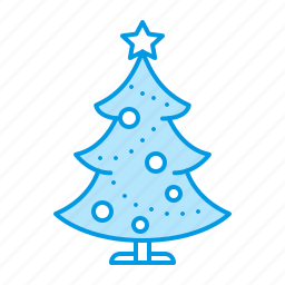 christmas, new, party, tree, year icon