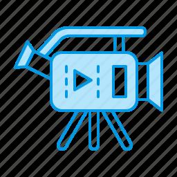 cam, camera, video, videographer icon