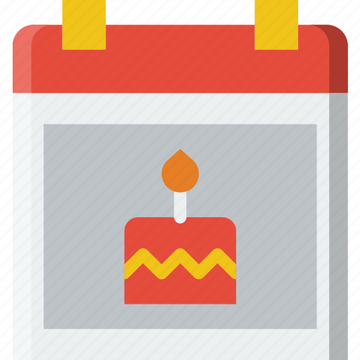 birthday, celebration, date, party icon
