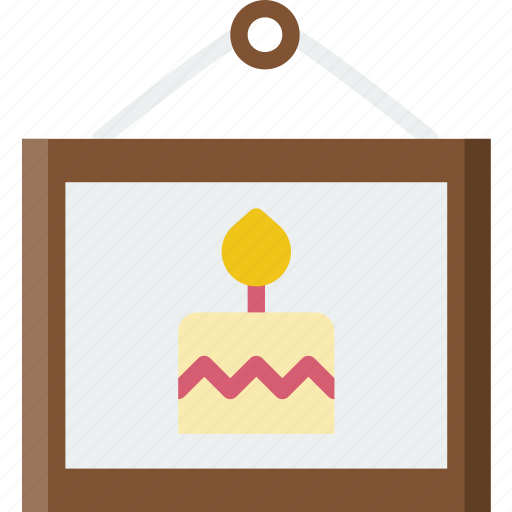birthday, celebration, party, picture icon