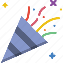 birthday, celebration, confetti, party icon