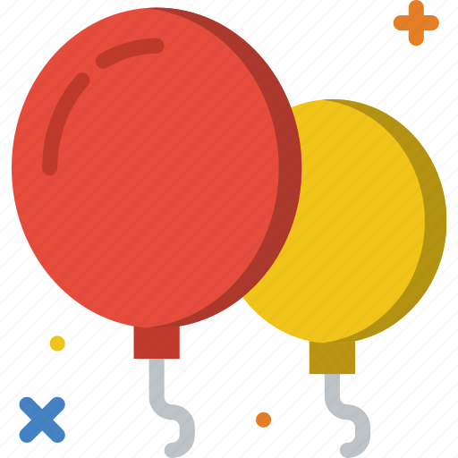 balloons, birthday, celebration, party icon