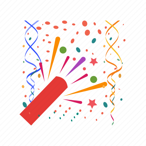 birthday, celebration, event, fireworks, group, holiday, party icon