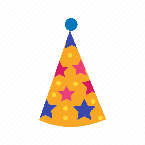 birthday, costume, decoration, hat, holiday, party, red icon