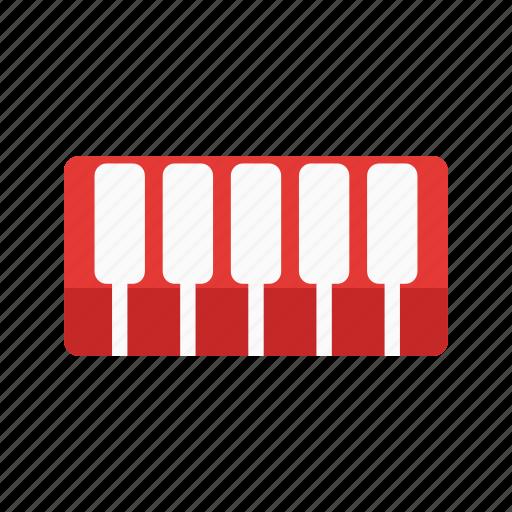 instrument, key, keys, music, piano, play, sound icon