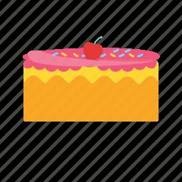 birthday, cake, chocolate, cream, dessert, food, party icon