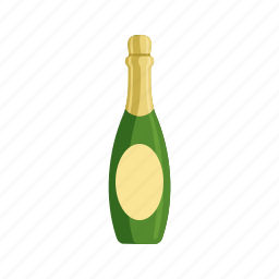 alcohol, anniversary, bottle, celebration, champagne, gold, wine icon