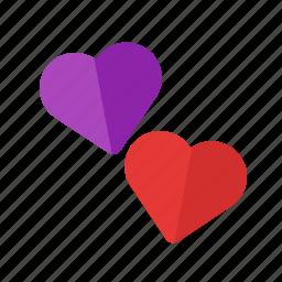day, heart, love, red, shape, summer, valentine icon