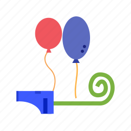 balloon, balloons, birthday, celebration, happy, hats, party icon