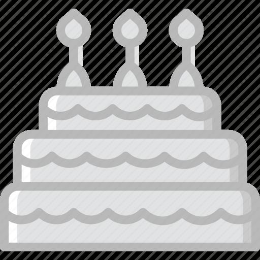 Greyscale Birthday Cake