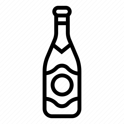 alcohol, bottle, celebrate, champagne, cork, new years, wine icon
