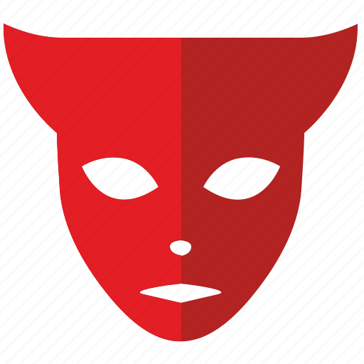 devil, face, hero, mask, party icon