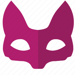 carnaval, fox, lady, mask, party icon