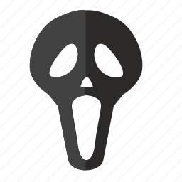 face, horror, mask, party, scary icon