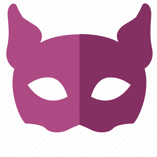 cat, girl, lady, mask, party icon