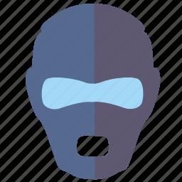 face, mask, party, person, secret, soldier, swat icon