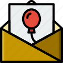 birthday, celebration, invitation, party icon