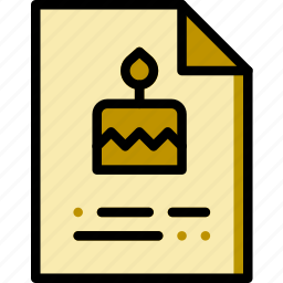 birthday, celebration, invitation, party icon
