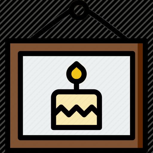 birthday, celebration, party, picture icon