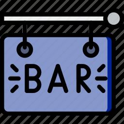 bar, birthday, celebration, party, sign icon