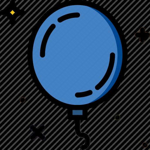 balloon, birthday, celebration, party icon