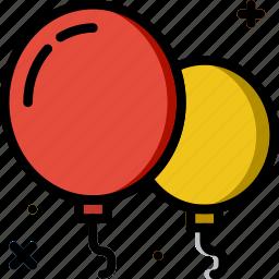 balloons, birthday, celebration, party icon