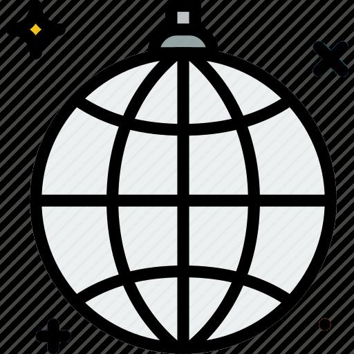birthday, celebration, disco, globe, party icon