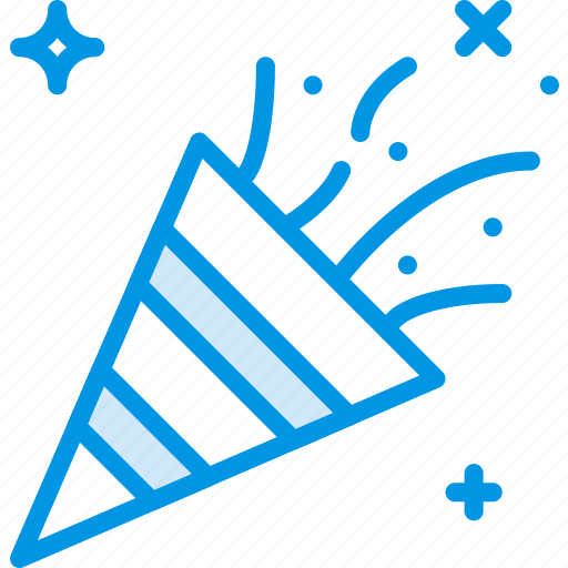 birthday, celebration, confetti, party icon